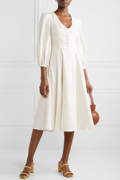 how darling is this  vintage inspired linen dress ? take 40% off!