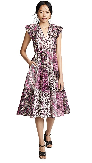 this  vibrant patterned dress  is a must for summer!