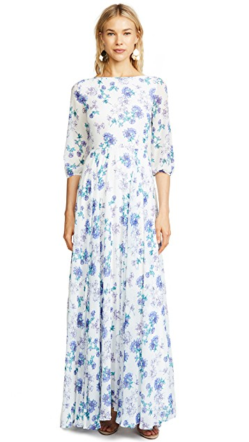 we adore this feminine  floral maxi dress ! and it's on sale for $103!