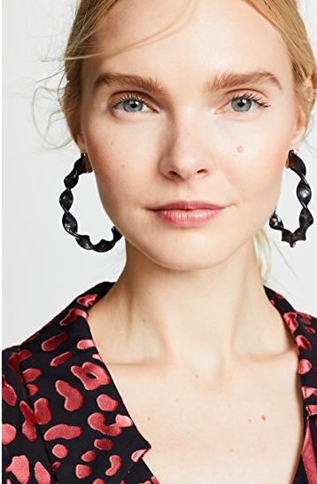 deal of the day! these  twisted hoop earrings  are under $10!
