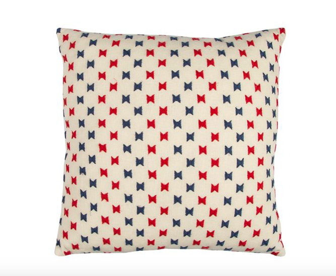 we love the quirky bowtie motif on this  cotton pillow  - snap it up for $35.55!