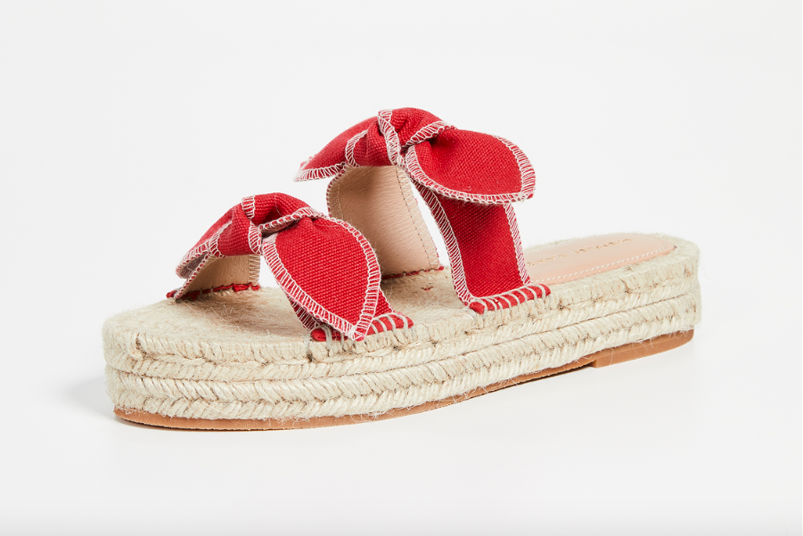 these  bow espadrille platforms  are the sweetest for summer!