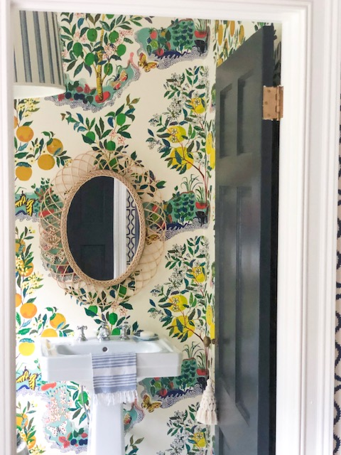 snap up this  rattan mirror  for under $70!