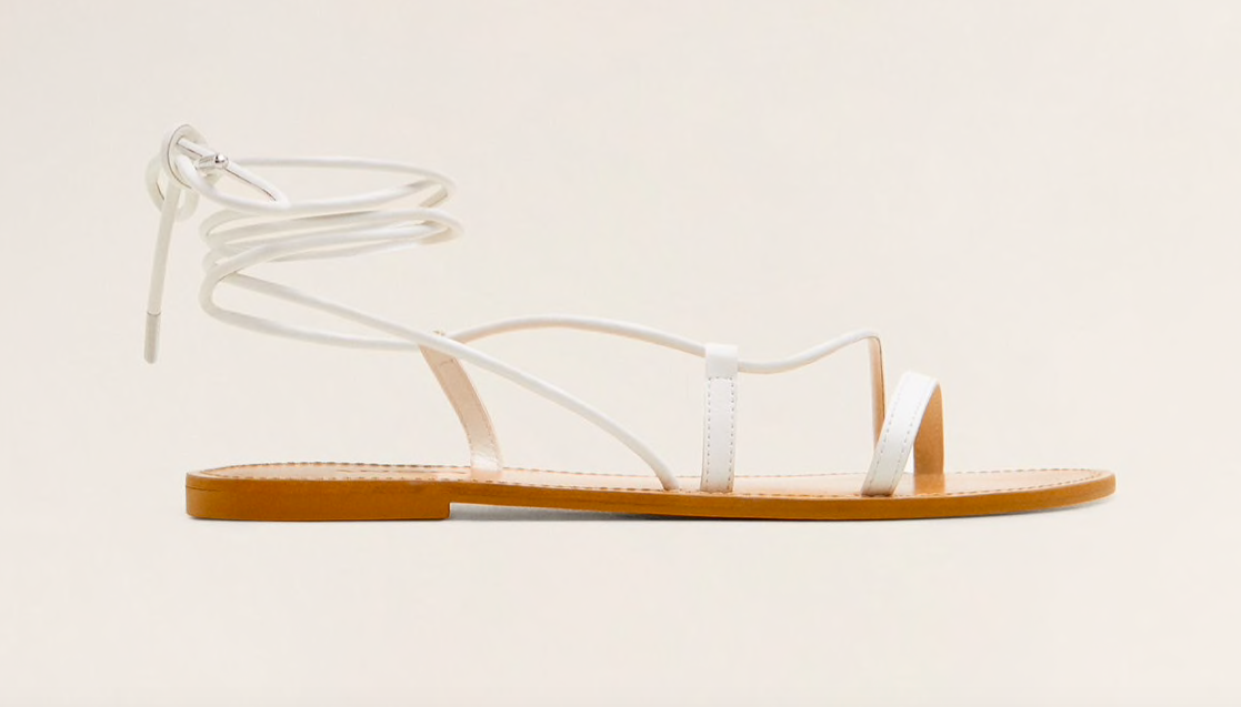 these  criss-cross strap sandals  are so versatile and only $59.99!