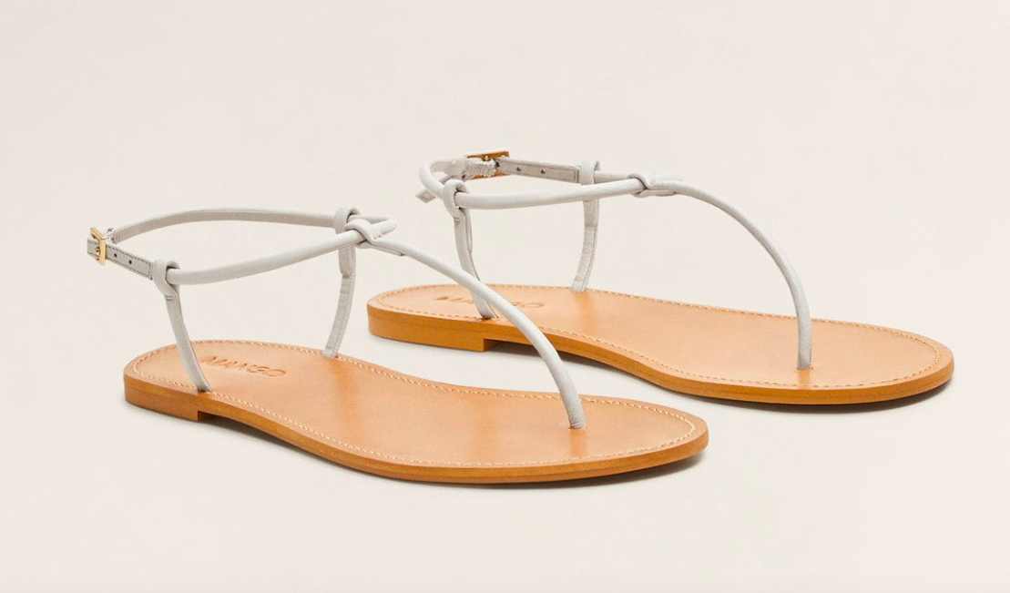 we just snapped up these  leather strap sandals  (they come in two colors) and are under $60!