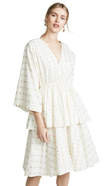 this  bohemian ivory tiered dress  was made for vacation!