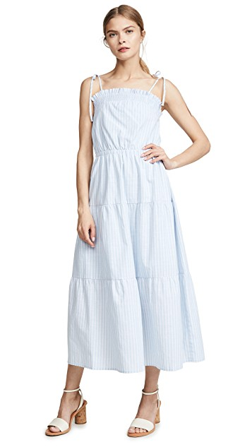light and breezy, this  striped maxi  is so sweet (especially the tie straps).
