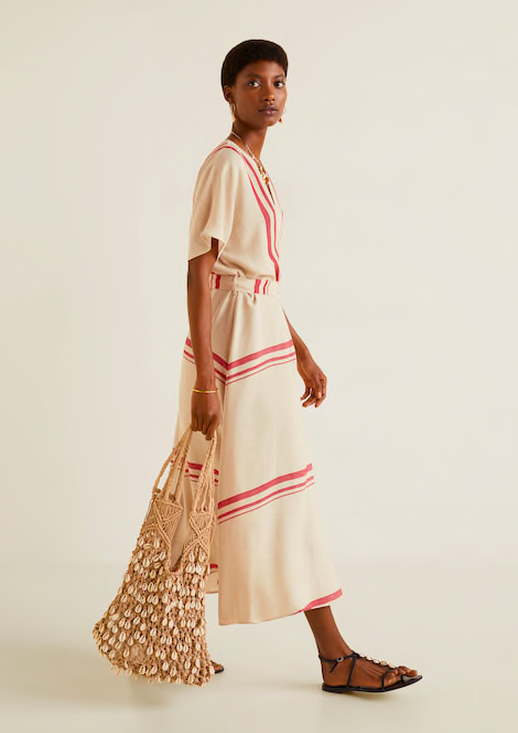 hello summer uniform! we love this  striped wrap dress !