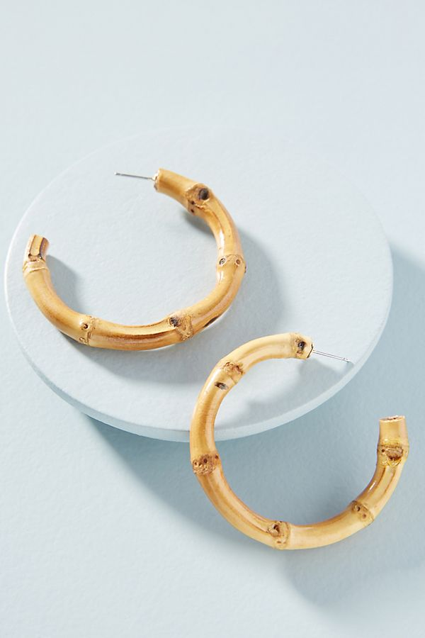 nothing says summer like  bamboo hoops ! snap them up here!