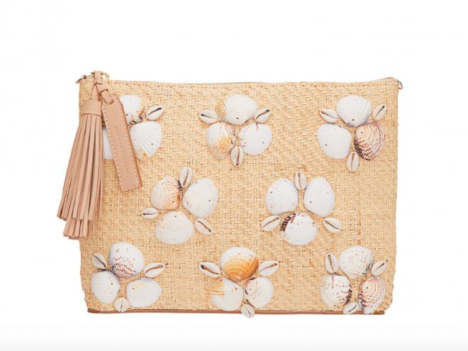 raffia + seashells =  clutch perfection