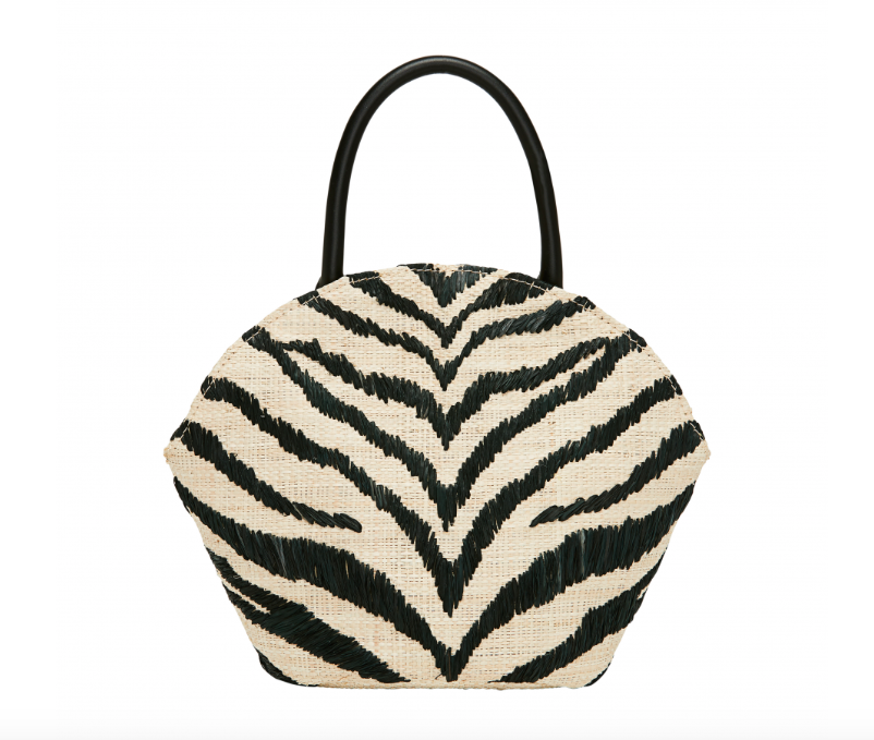 we are swooning over this new,  zebra straw tote  by loeffler Randall!