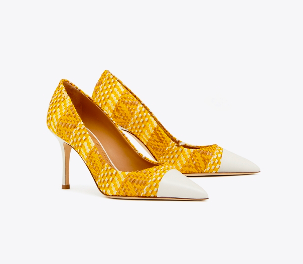 say hello to these happy  yellow cap toe pumps ! exciting news - they're on major sale!