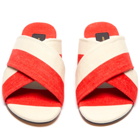 this is an open love letter to avec moderation… we adore your  striped canvas slides !