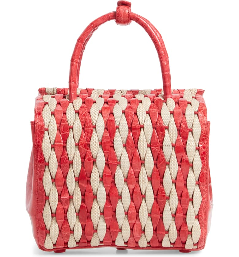 this  statement basket bag  is at the tippy top of our wishlist!