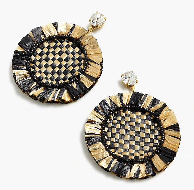 make a statement in these  raffia fringe earrings ! they're on sale for $45.50!
