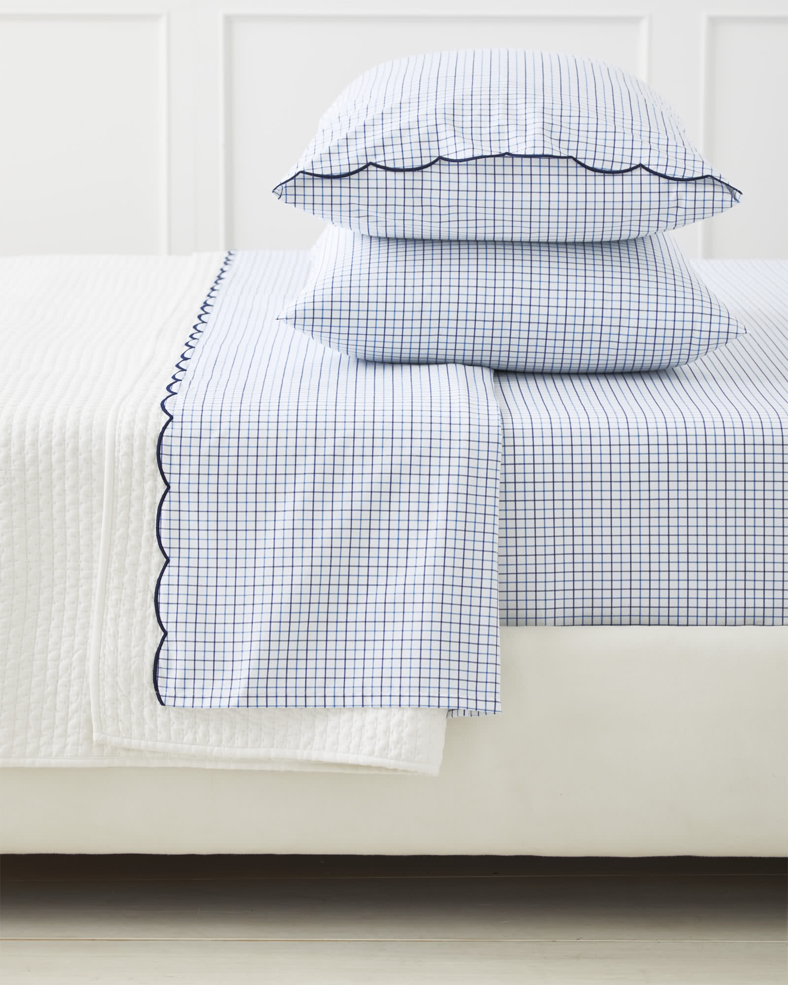 how sweet are these  scalloped sheets ?!? snap them up while they're 30% off!