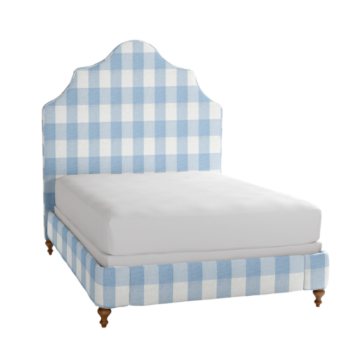 make a statement in any room with this custom  gingham headboard ! it's up to 30% off at one of our favorites for bespoke bedroom pieces!