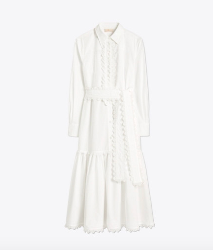 take 40% off this darling  scalloped shirt dress ! it's a deal for $219!