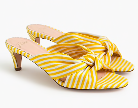 hello color crush! we are swooning over these  striped sandals  (currently on sale for $47!)