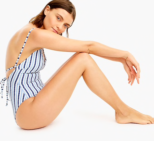 a deal not to be missed - we just added this  seersucker one piece  to our carts!