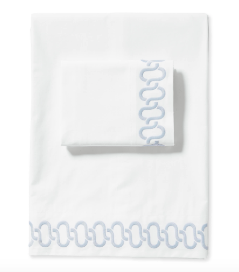 the sweetest  embroidered sheet set  is on sale for 30% off!