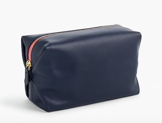 have upcoming summer travel? you'll want to take a peek at this  Italian leather Dopp kit  - it's on sale for under $45!