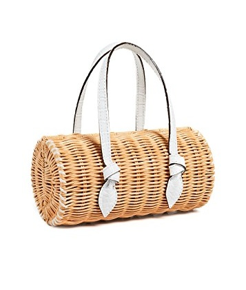 THis  rattan bag  is perfect for a warm summer day! use code Score19 at checkout to snap this bag up for $168!