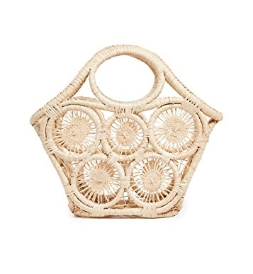 We can't believe this  sunburst pattern straw bag  is only $58 today!