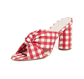 These red gingham heels  are swoon-worthy and on major sale!