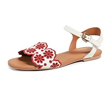 We can't stop thinking about these perfect  scalloped sandals  - they're such a score today!