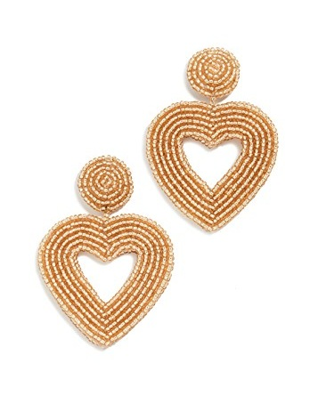 make a statement with these beaded  heart earrings ! and they're such a score for $21!