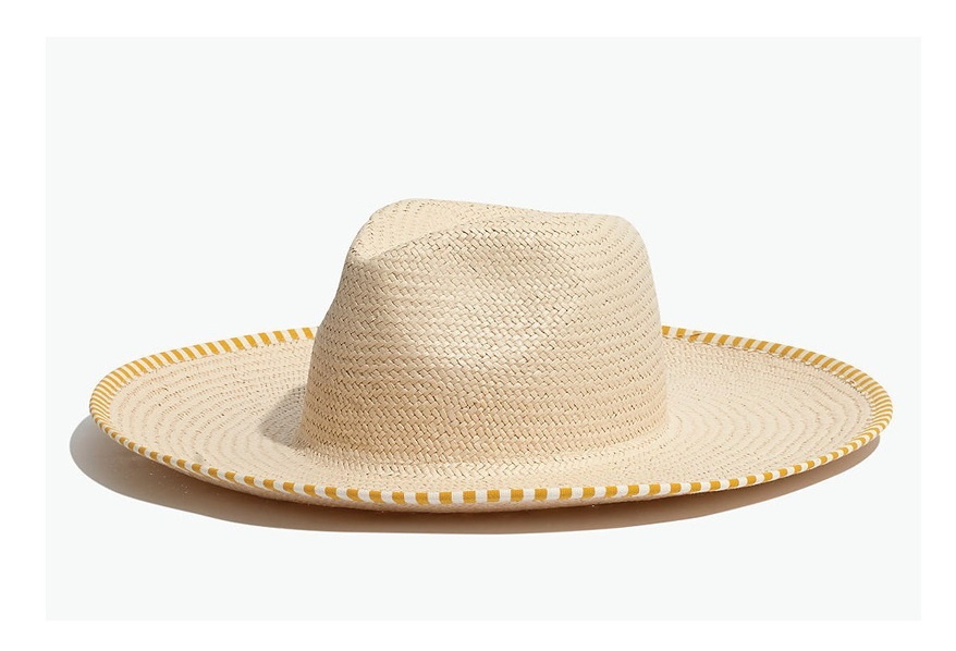 this  wide brim straw hat  is a must have for summer - especially when it's on sale for $25!