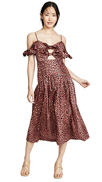 you know we can't resist a  leopard print dress  (especially one with fun cutouts).
