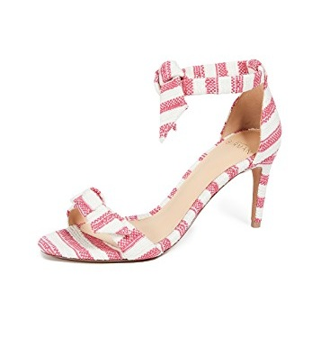 we're smitten over These adorable canvas  striped heels … take over $200 off today!