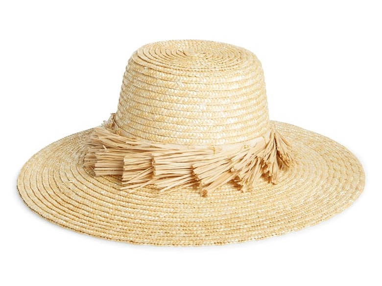 we adore the fringe detail on this  straw hat  (just $63)!
