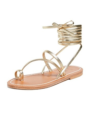 you know we love a metallic  lace up sandals ! we're swooning over this splurge-worthy pair!