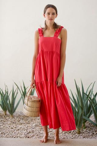 one of our very favorite brands, mirth, makes the very best getaway pieces like this  grenadine maxi dress !