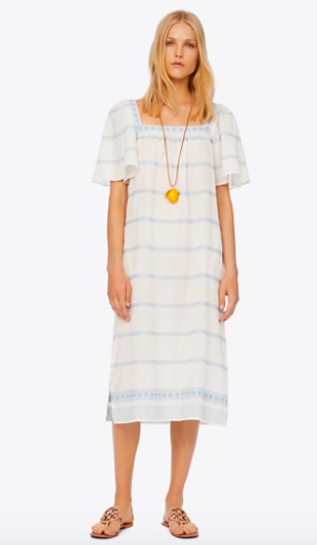 take an extra 25% off this  striped embrodiered ruffle dress !