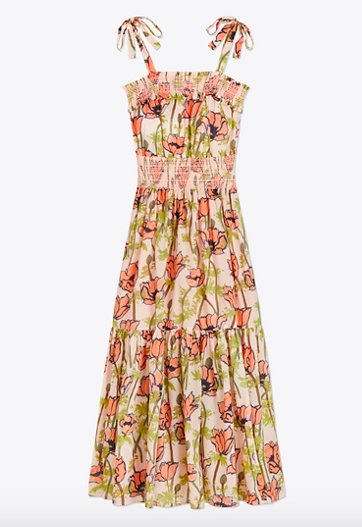 this  poppy print dress  is the perfect effortless look for summer!