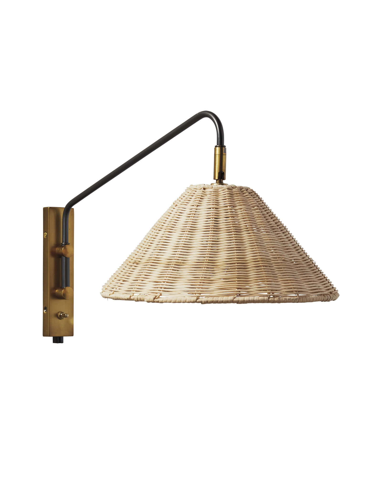 add a nod to island living with this  wicker sconce !
