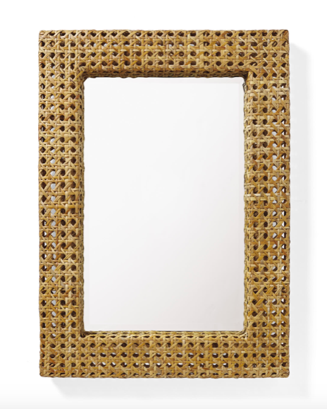 the absolute sweetest  cane mirror  - take 20% off today!