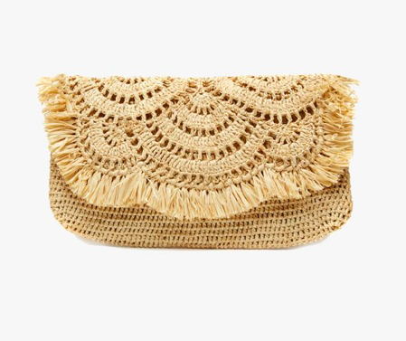 festive fringe + sophisticated scallop =  clutch perfection