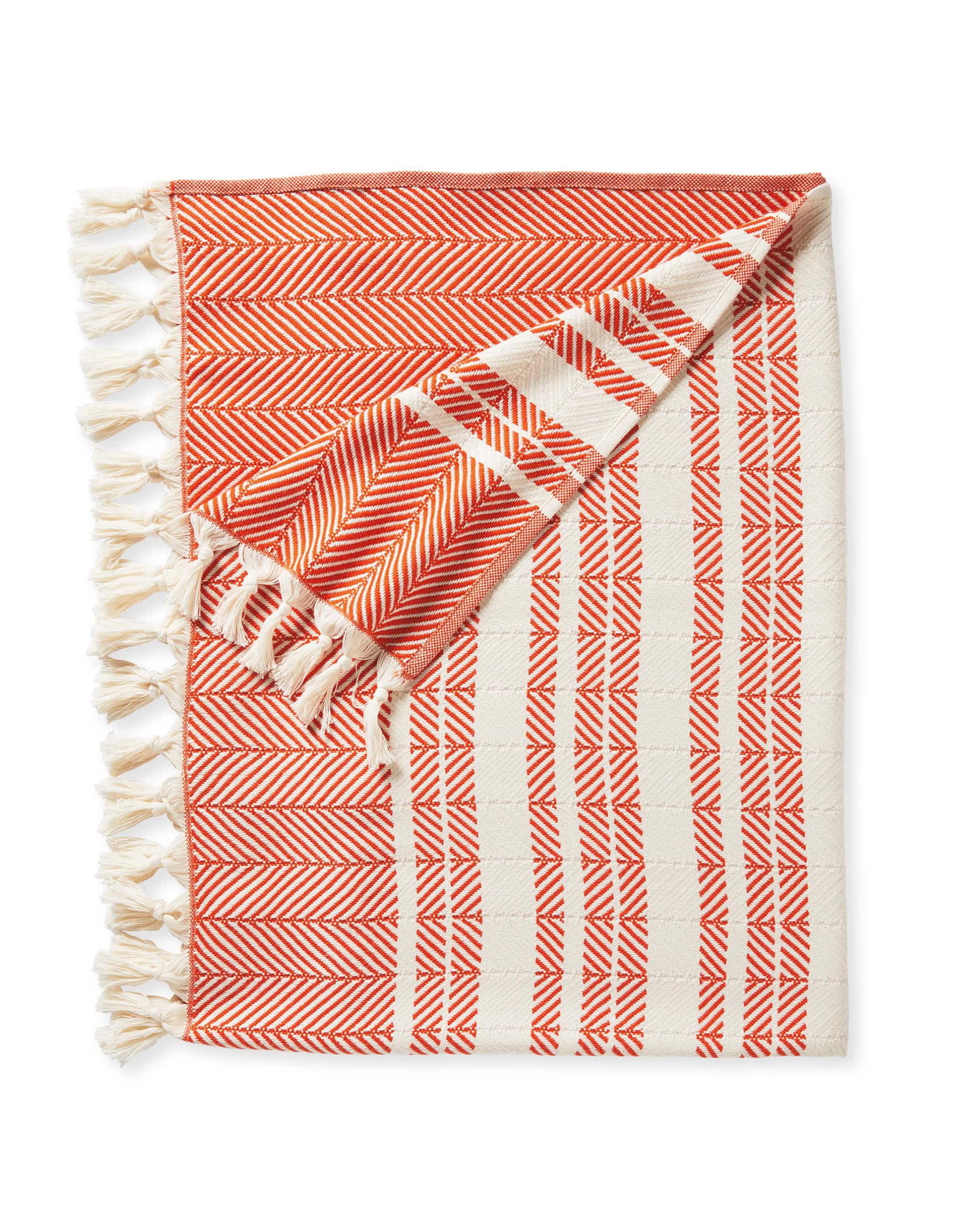 we just snapped up this  herringbone throw  in our signature orangey red!