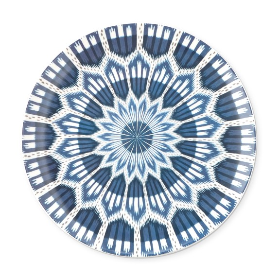 set the table in the style of Schumacher! we can't get enough of this new  ikat porcelain dinner plate  (and they come in three fun colors)!
