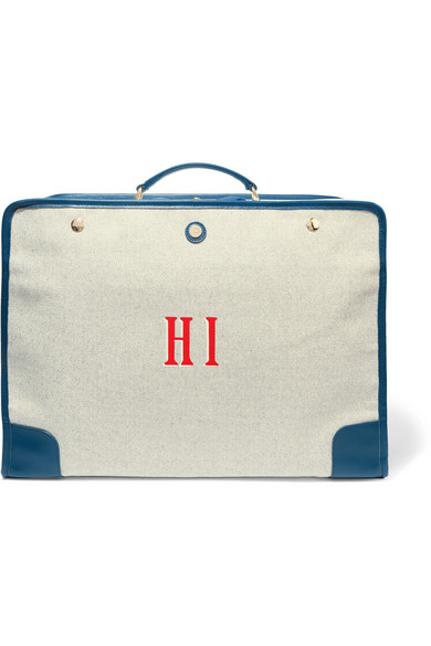 say hi to your new favorite  canvas trim suitcase ! and it's 40% off today!