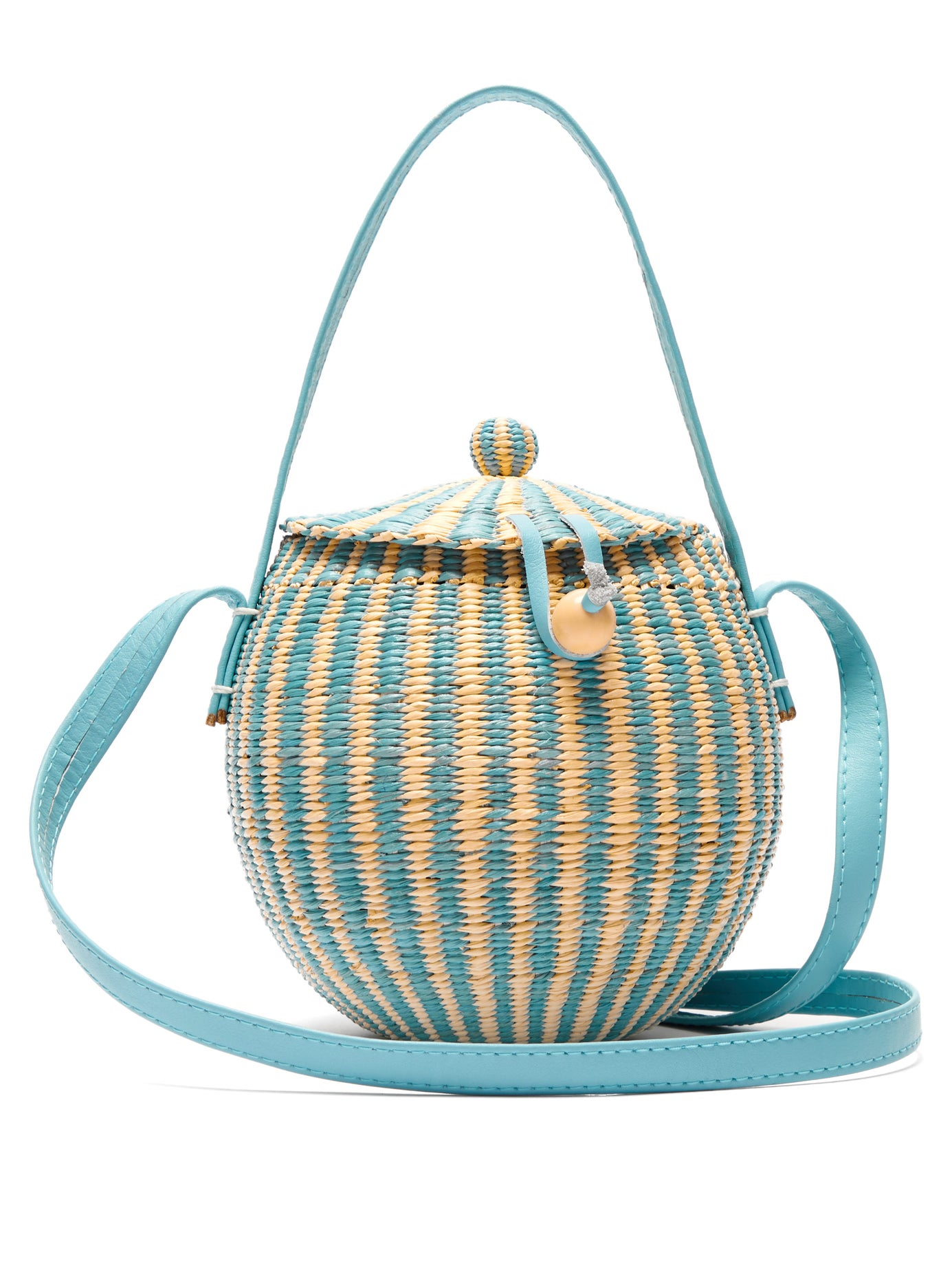 we've never met a straw bag we didn't love… how sweet is this  woven striped bag ?!?!