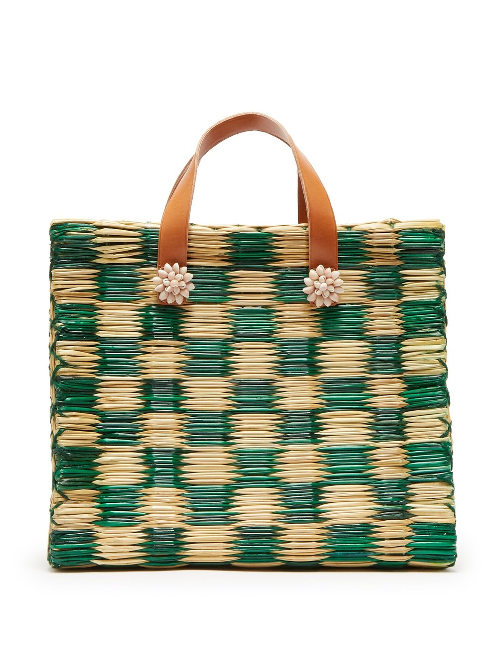 this emerald  straw tote  was made for seaside strolls!