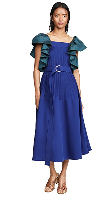 hello color crush! this  splurge-worthy sapphire dress  has us swooning!