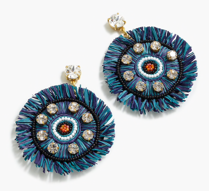today only! score 40% off these  raffia fringe earrings  at j.crew!