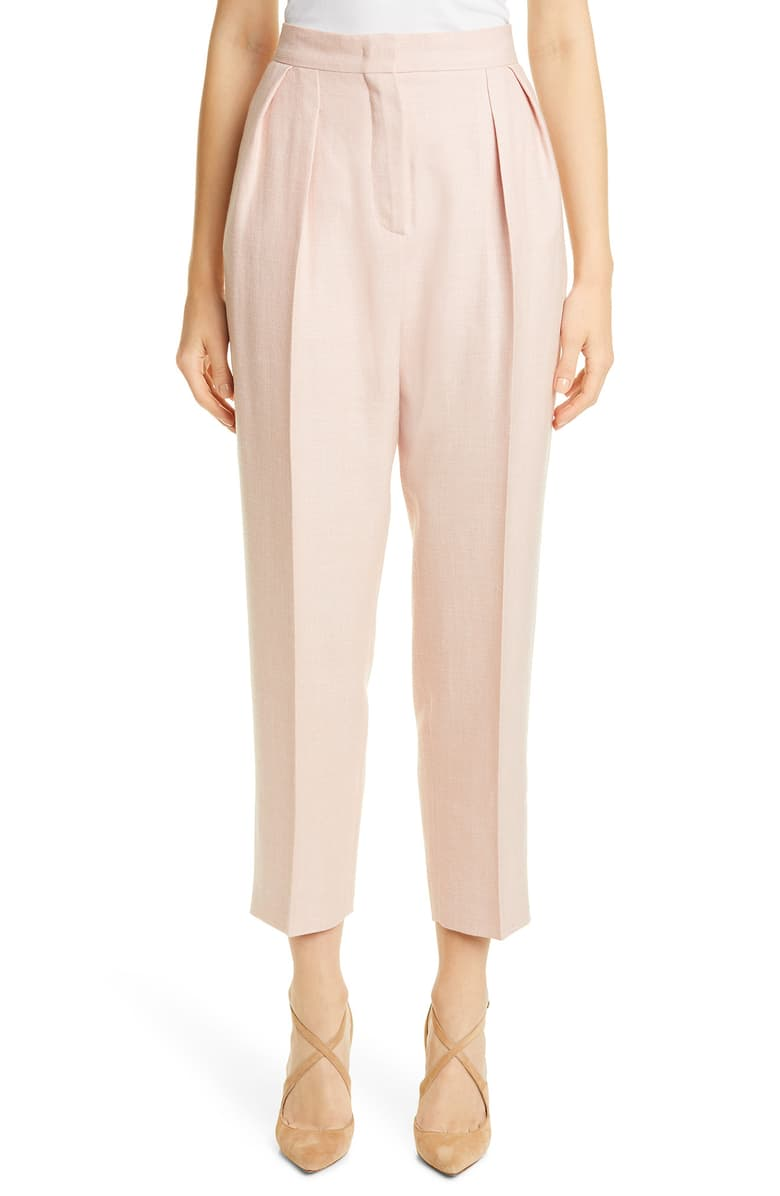 these  pleated blush crop pants  are the sweetest!